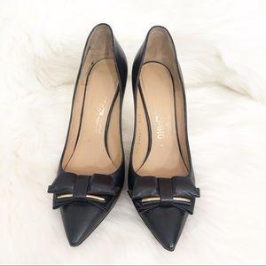 Salvatore Ferragamo Black Double Bow 4 Inch Heels